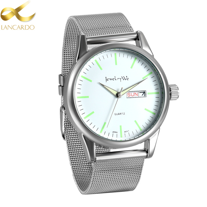 Famous Brand Lancardo Luxury Men's Watches Men Wristwatches Steel Business Dress Quartz Watch Reloj Hombre Week Time Clock Men onlyou brand luxury fashion watches women men quartz watch high quality stainless steel wristwatches ladies dress watch 8892