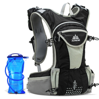 AONIJIE Men Women Trail Running Backpack Outdoor Sport Hiking Racing Bag With Optional 2L Hydration Water Bag 250ml Water Bottle