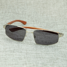 High Grade Metal Frame With Maroon Wood Temple Full Rim Sunglasses Carter Men And Women Sun Glass Stylish Elegant Gift Eyewear