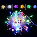10 Meters LED Water-resistant String Lights Decorative Outdoor Fairy Lamps LED Holiday Christmas Festival Party Colorful Xmas