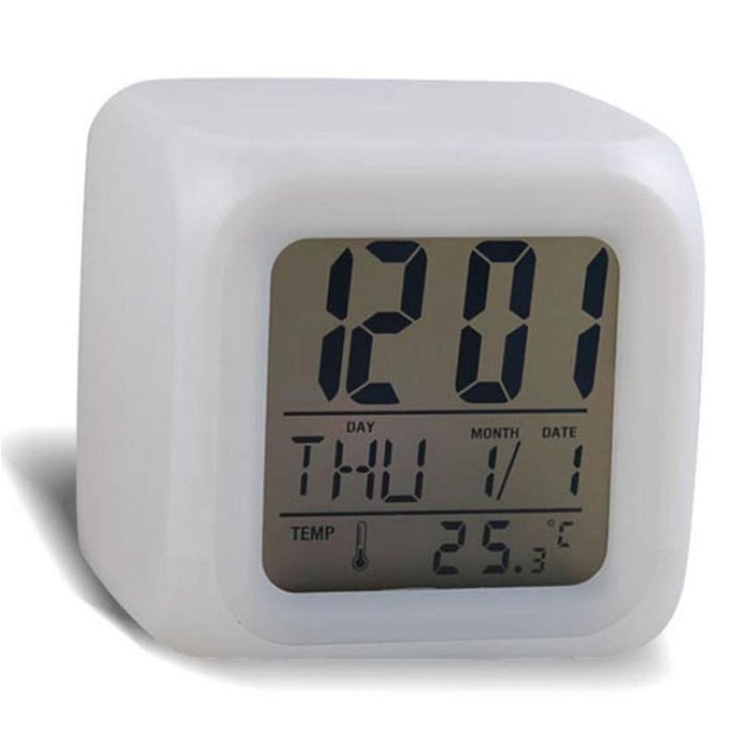 jam alarm 2017 terbaik penjual warna digital alarm thermometer malam glowing led ubah mode reloj