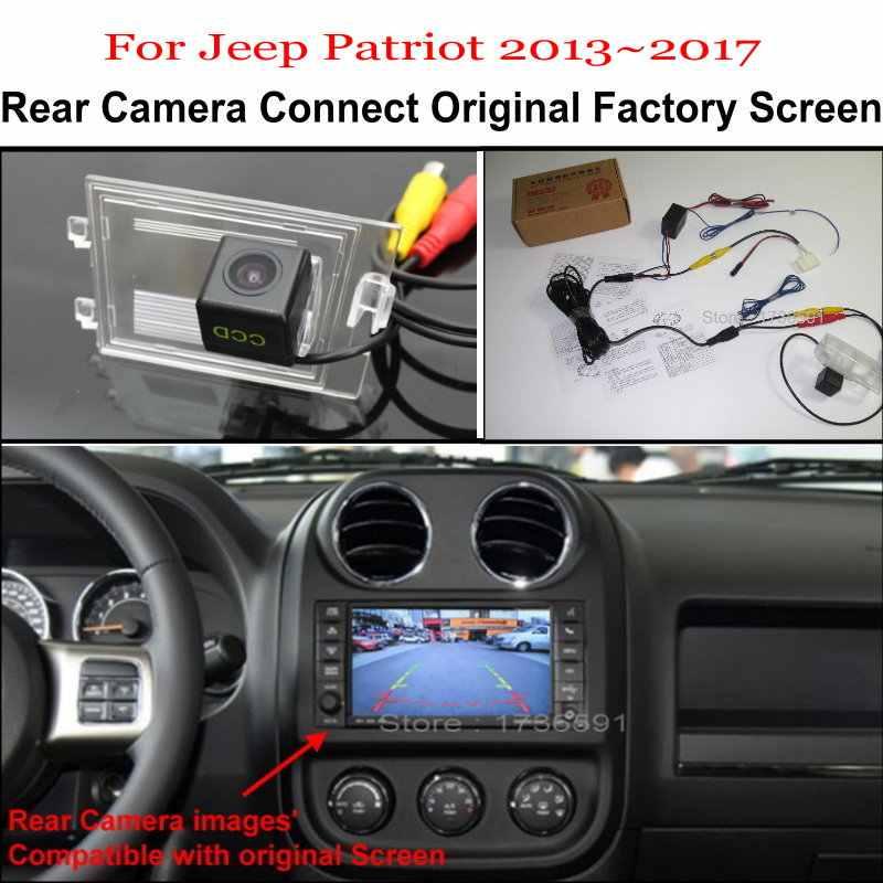 Para Jeep Patriot 2013 ~ 2017 vista trasera de coche marcha atrás juegos de cámara/RCA y pantalla Original Compatible/cámara de aparcamiento para coche