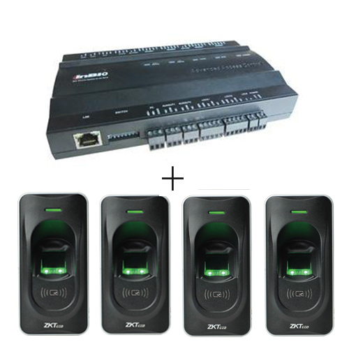 Biometric fingerprint access control board TCP/IP ZK inbio260 2 doors access control system with 4pcs fr1200 fingerprint reader hotsale biometric fingerprint access control reader standalone door access control system with tcp ip usb and free software
