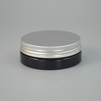 60pcs/lot 30g Black Plastic Cosmetic Bottle Aluminum Cap Refillable Lip Container PET Hair Wax Jar 30ml 2017 Style #AB50