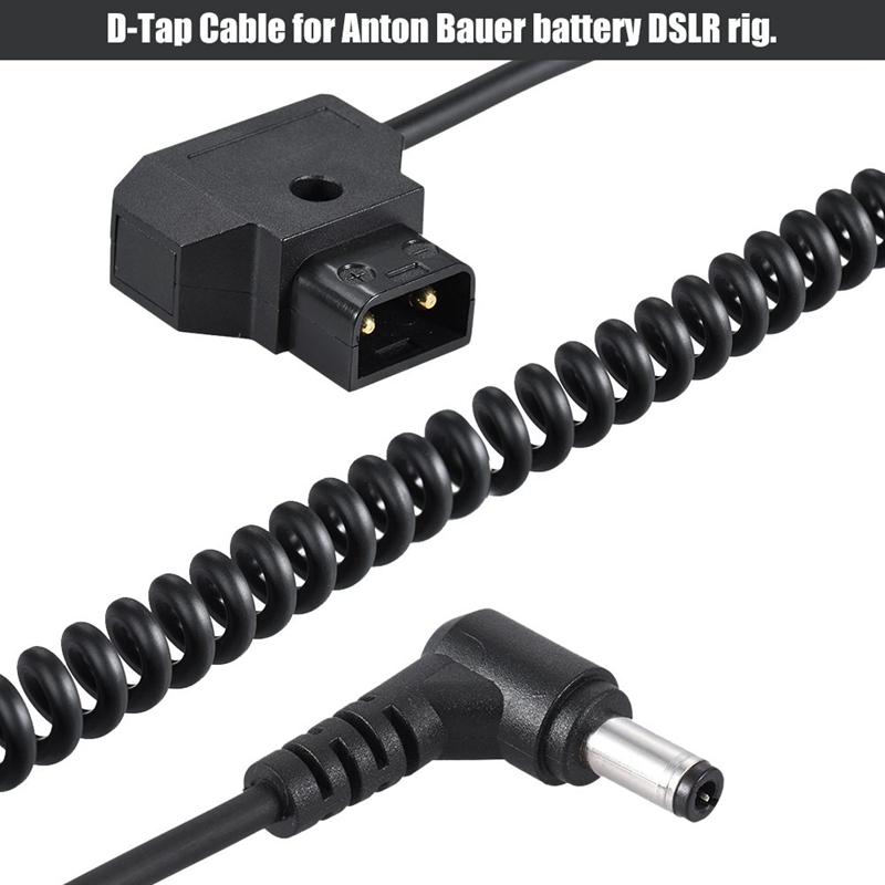 D-tap macho a hembra Cable de extensión de D-tap para V-mount//placa de montaje de oro