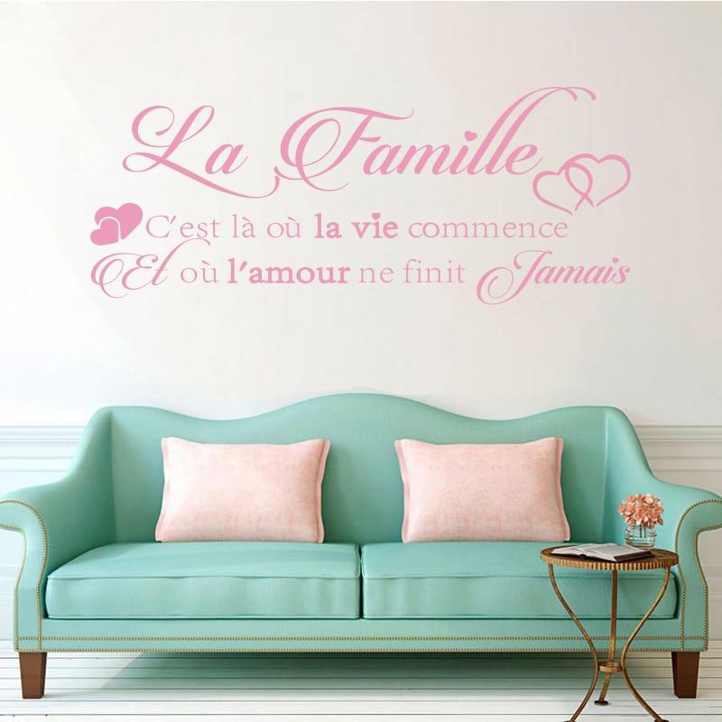 Vinyl αυτοκόλλητα τοίχου La-Famille - Διακόσμηση σπιτιού - Φωτογραφία 2