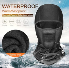 New Balaclava Winter Face Mask Motorcycle Shield Ski Waterproof Thermal Fleece Skull Moto With Breathable Vents