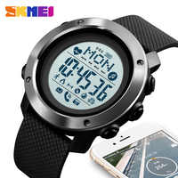 SKMEI Sport Smart Watch Men Waterproof Watch Compass Bluetooth Digital Wristwatches Heart Rate Calories Clock reloj hombre