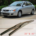 Aerodynamic Frameless Rubber Windshield Wipers Blades U Hook For Kia Cerato