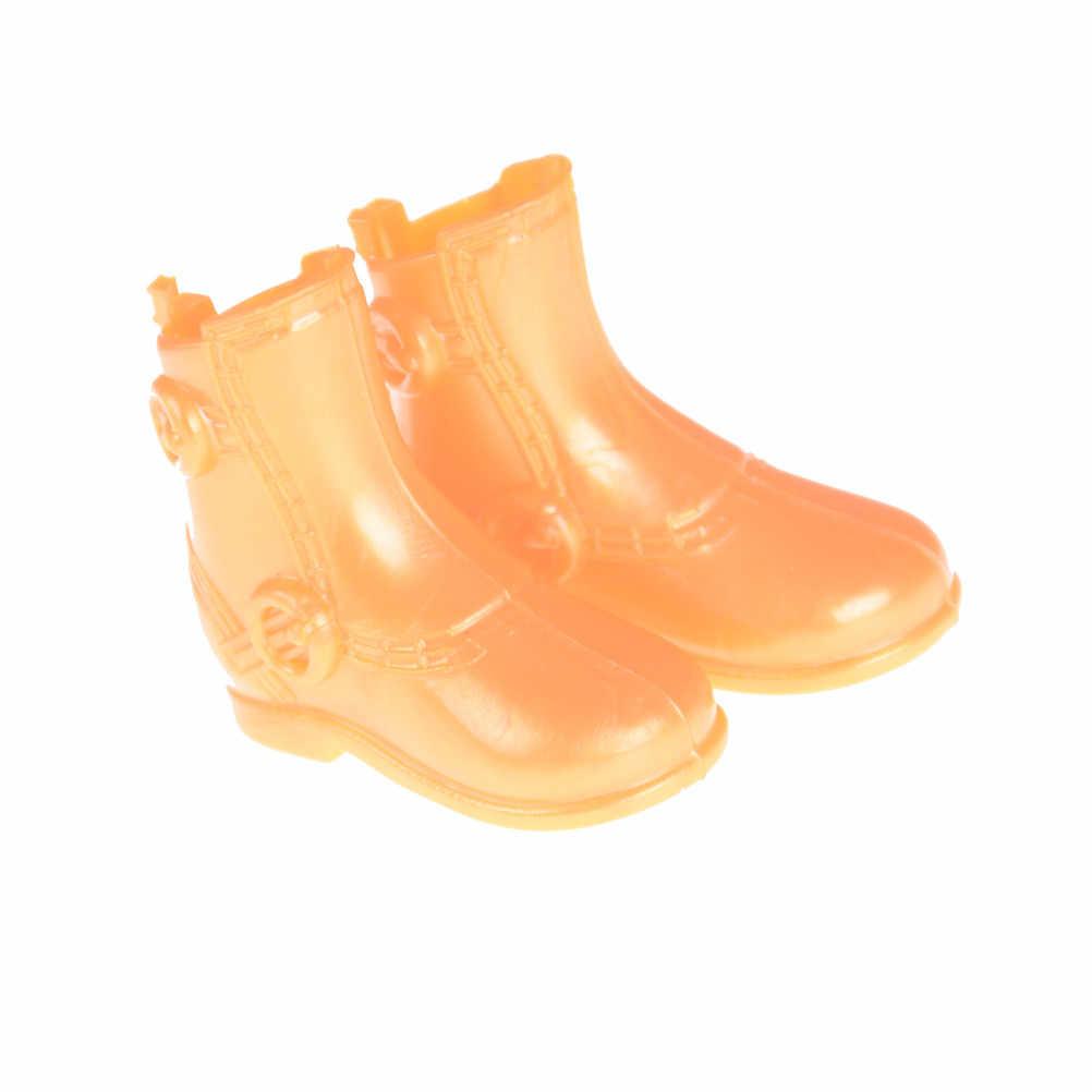 Bán Buôn 1 Cặp/lô Mới Giày Boot Cổ Ngắn Cho Nam Quái Vật Búp Bê 12 ''Ken Giày Màu Cam Đồ Chơi Phụ Kiện Búp Bê