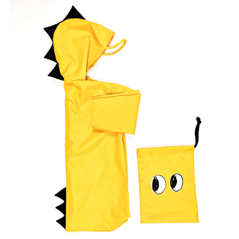 Детское водонепроницаемое пальто с динозавром для детей, ветрозащитное дождевое пальто, пончо для мальчиков и девочек, для студентов, Regenjas Kinderen, желтого цвета, 18 мес.-8 лет