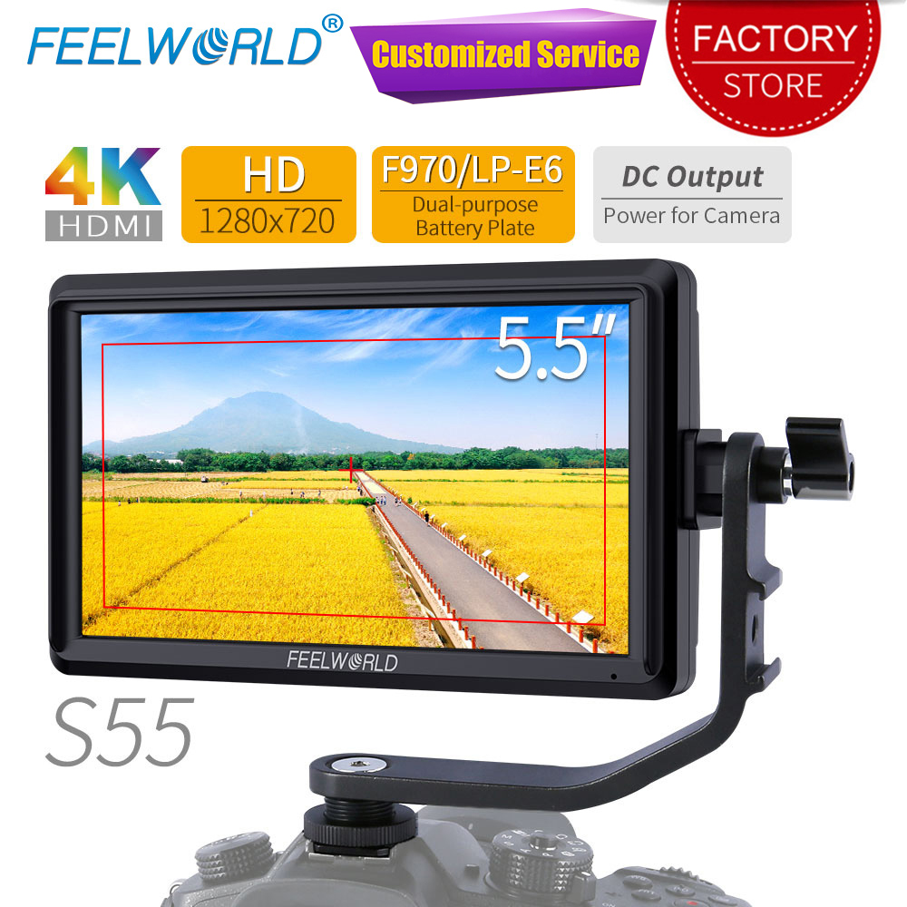 FEELWORLD S55 5 5 inch DSLR Camera Field Monitor 4K HDMI Small Full HD 1280x720 IPS