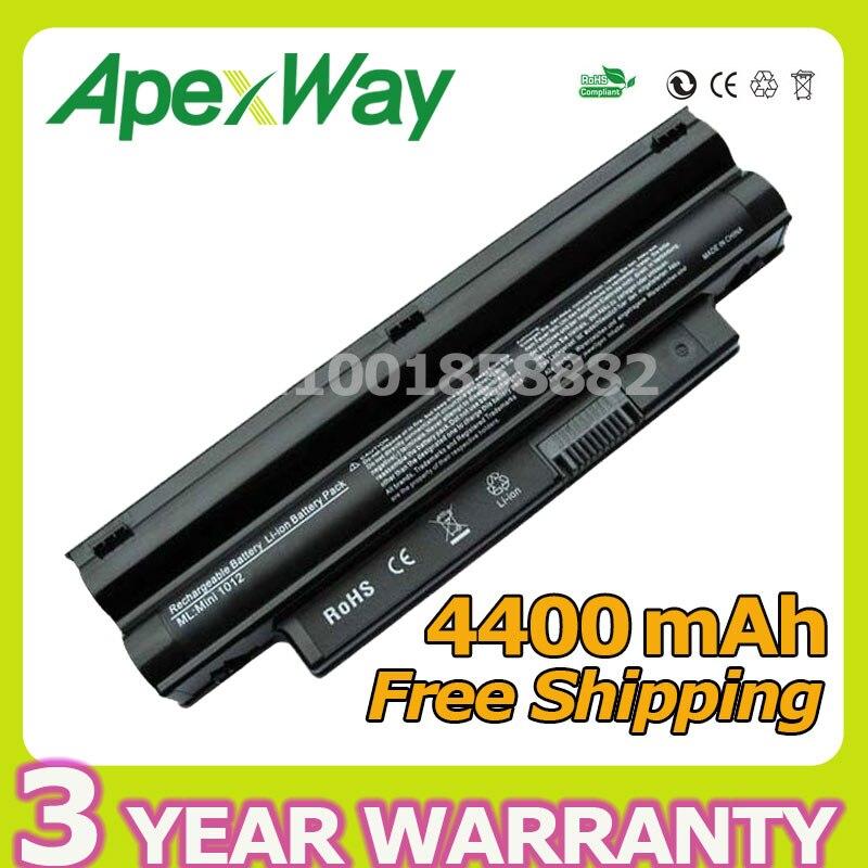 Apexway 4400mAh BLACK Laptop Battery for DELL Inspiron Mini 1012 1018 2T6K2 312-0966 3K4T8 854TJ 8PY7N CMP3D G9PX2 NJ644 T96F2 все цены