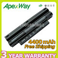Apexway 4400mAh BLACK Laptop Battery for DELL Inspiron Mini 1012 1018 2T6K2 312-0966 3K4T8 854TJ 8PY7N CMP3D G9PX2 NJ644 T96F2