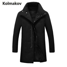 KOLMAKOV 2017 new winter high quality fashion men's stand collar down jacket,90% white duck down coat parkas,full size M-3XL
