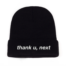 Thank U, Next Beanie Ariana Grande вязанная шапка с вышивкой теплые зимние унисекс Женские Мужские шапки thank u, next
