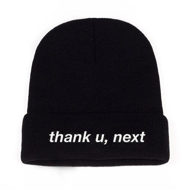 93395d53bd27b3 Thank U,Next Beanie Ariana Grande embroidery Knitted Hat Warm Winter Unisex  Women Man Hats thank u,next