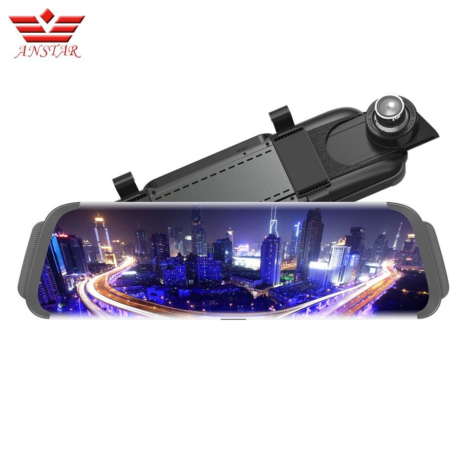 ANSTAR Android Voiture Dvr Dash Caméra 1080 p HD Vue Arrière Caméra ADAS Détecteur de Radar GPS Navigation Miroir Enregistreur Double lentille DVR
