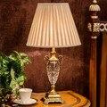 Роскошный кристалл настольные светильники кристалл настольная лампа спальня прикроватные для гостиная Европа дом освещение e27 гнездо качества
