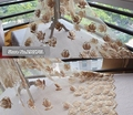 Gold lace fabric paillette embroidery lace noble champagne gold Bridal veil wedding dress fabric DIY accessories
