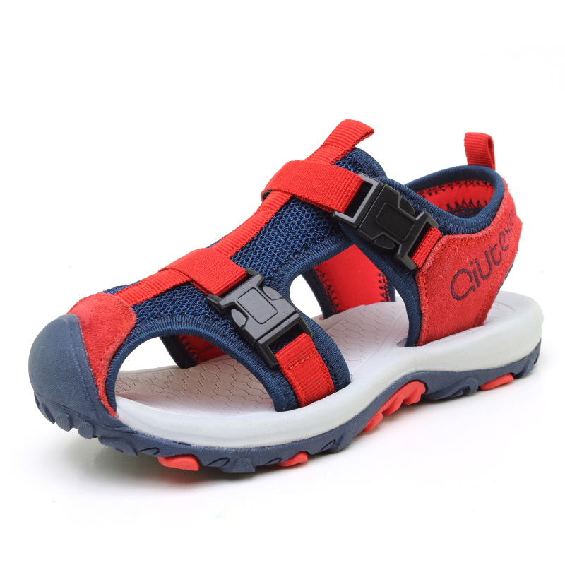 Summer New Boys Outdoor Beach Sandals Casual Kids Suede Leather  Shoes Saefty Brand Quality Children Fashion Comfortable