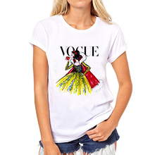 2016 Brand Women T Shirt Tattoo Vogue Princess Print Tshirt Women Short Sleeve Casual Shirt For Lady Tops Tees Hipster T-shirt