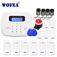 WOFEA LCD PIR Sensor GSM Auto dial House Office Burglar Intruder GSM Alarm System Support Android and IOS APP Control