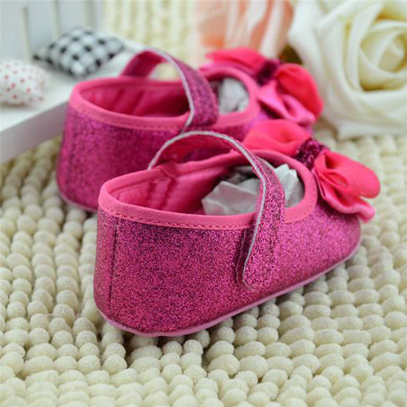 e73e92fe1aa102 Baby Shoes Infant Toddler Shoes Shallow Sequins Bling Flower Bow Crib Shoes  First Step Soft Sole Kid Girls Dress Crib Shoes-in First Walkers from  Mother ...