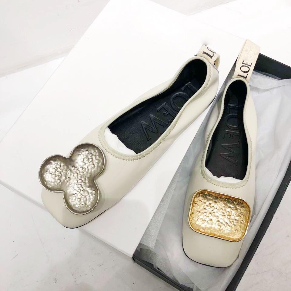Tête 1 Femelle Peu Chaussures Simples En Ballet Carrée 2019 Sauvage Bouche Profonde De 2 Boucle Printemps Nouveau Métal Femmes qwgvrRqT