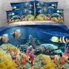 Royal Linen Source Brand 6 PCS PER SET Turtle and tropical fish on reef 3d marine bed set luxury bedding