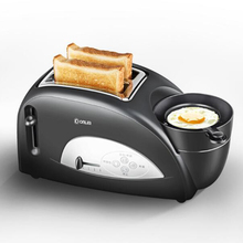 Household multi-functional single bread piece toasting toaster breakfast toast oven machine with hard boiled egg/steamed meat