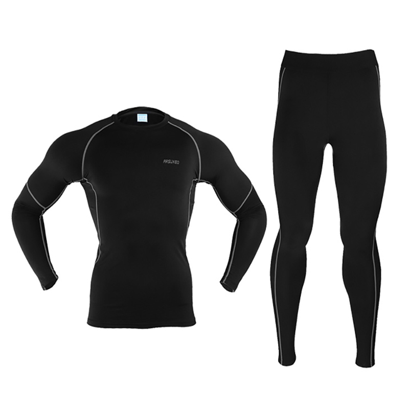 Top Quality Winter Warm Quick Dry Skiing Underwear Set Men Top And Pants Skiing Jacket And Pants Thermal Underwear Clothing