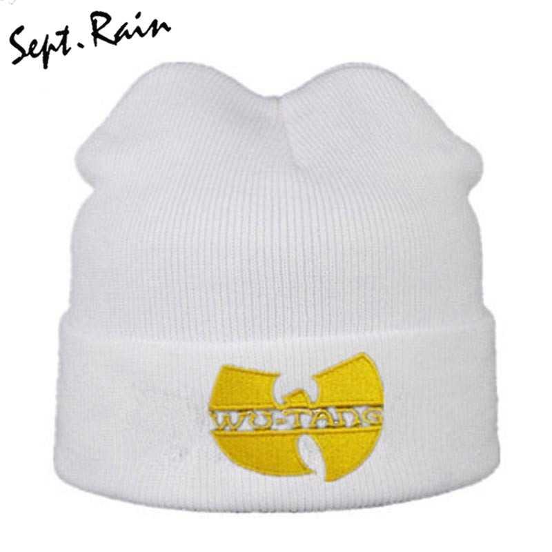 06f5bb279f3 ... High Quality WU TANG CLAN Men s Hats Unisex Winter Warm Casual Beanie  Hat Women Hip Hop ...