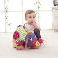 Baby Toys Educational Toys For 0 24 Month Cartoon Plush Elephant Baby Rattles Music Baby Elephant