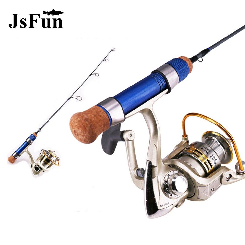 Winter Ice Fishing Combo <font><b>Rod</b></font> Pen Ultralight Portable Valve Pole Mini Tackle Spinning Casting Hard Telescopic Fishing +Reel L278