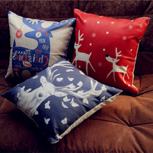 Valentine Pillow Covers New Year Printed Cotton Linen Cushion Cover Decorative Throw Pillowcase For Sofa Cojin Personalizado недорого
