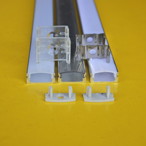 Image 3 - QLTEG 50cm Embed Led Aluminum Profile Bar Light Housing Milky Clear Covers Clip Channel for 12mm PCB Strip Recess Extrusion
