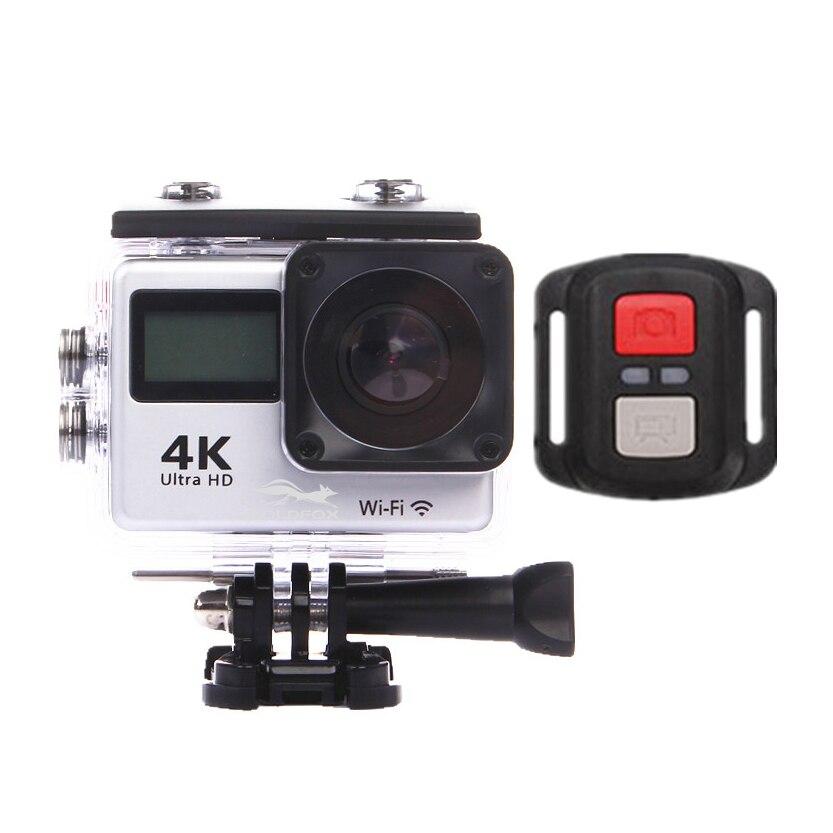 Caméra de sport Goldfox Ultra HD 4 K 30fps WiFi caméra d'action 30 m étanche pro DV 150D double caméra de sport LCD avec télécommande