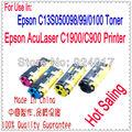 Cartucho de toner de reset para epson aculaser c900 c1900 lp1500c impressora, para epson c13s050097 c13s050098 c13s050100 c13s050099 toner