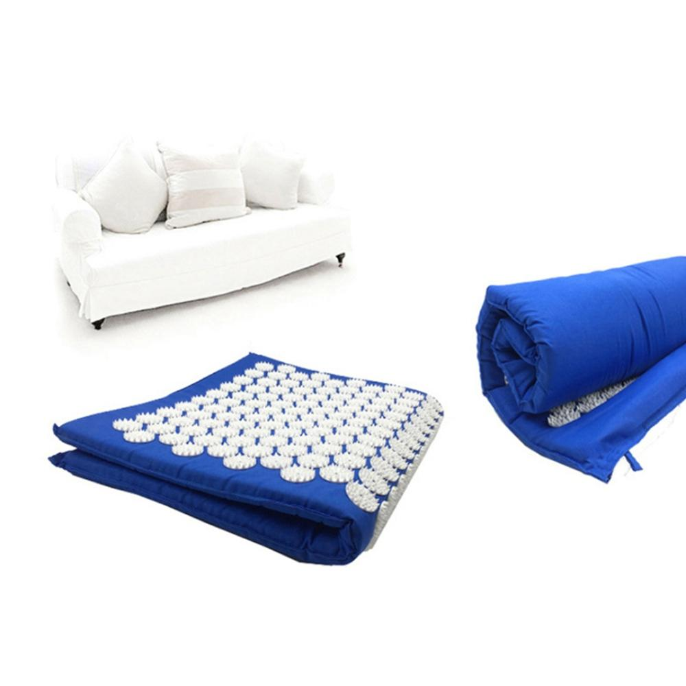 Lotus Acupressure Massage Mat with pillow set for Fitness to Relief Body Pains including foot