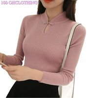 Thickened Half Turtleneck Sweater Short Female Thread Tight Turtleneck Sweater All Match Solid New Shirt