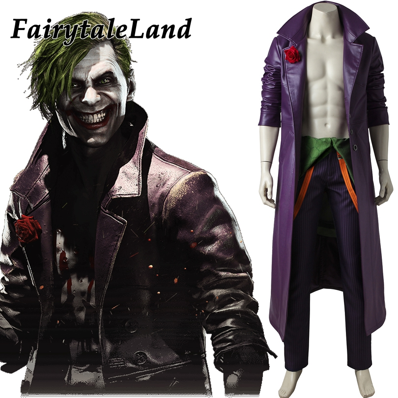 injustice 2 joker cosplay costume custom made halloween costumes for adult fancy costume injustice league joker - Halloween Costumes Prices