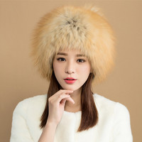 ZY84021 2017 New Arrived Russian Styles Real Autumn Winter Womens Real Rex Fox Fur Fashion Style Protect Ears Snow Hats Fur Cap