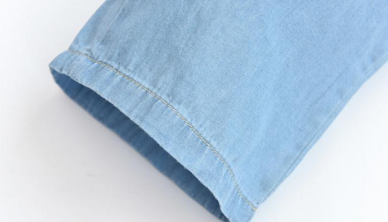 Light Blue Deep Blue Kawaii Bunny Embroidery Jeans Pants Women Summer Casual Straight Pants With Pockets Fashion Ninth Pants15