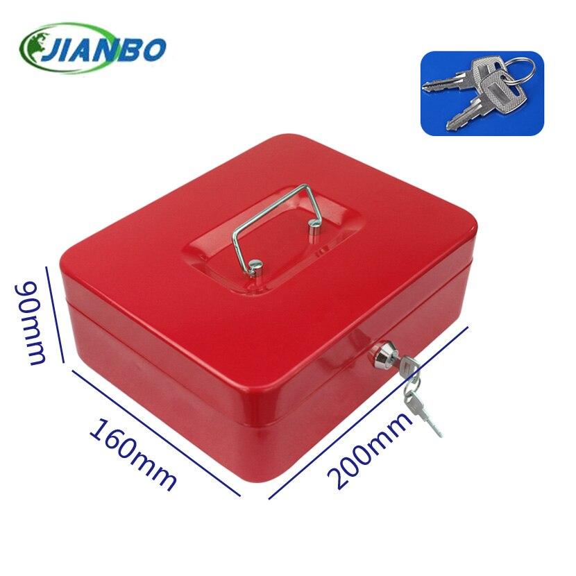 200A portable mini iron mini-safe box cash box cash register domestic steel safe free shipping mini portable steel petty lock cash safe box for home school office market lockable coin security box