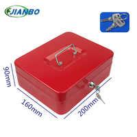 Tragbare Stahl Petty Abschließbar Bargeld Geld Münze Safe Box Haushalt Locker Geld Schmuck Safty Sicherheit box