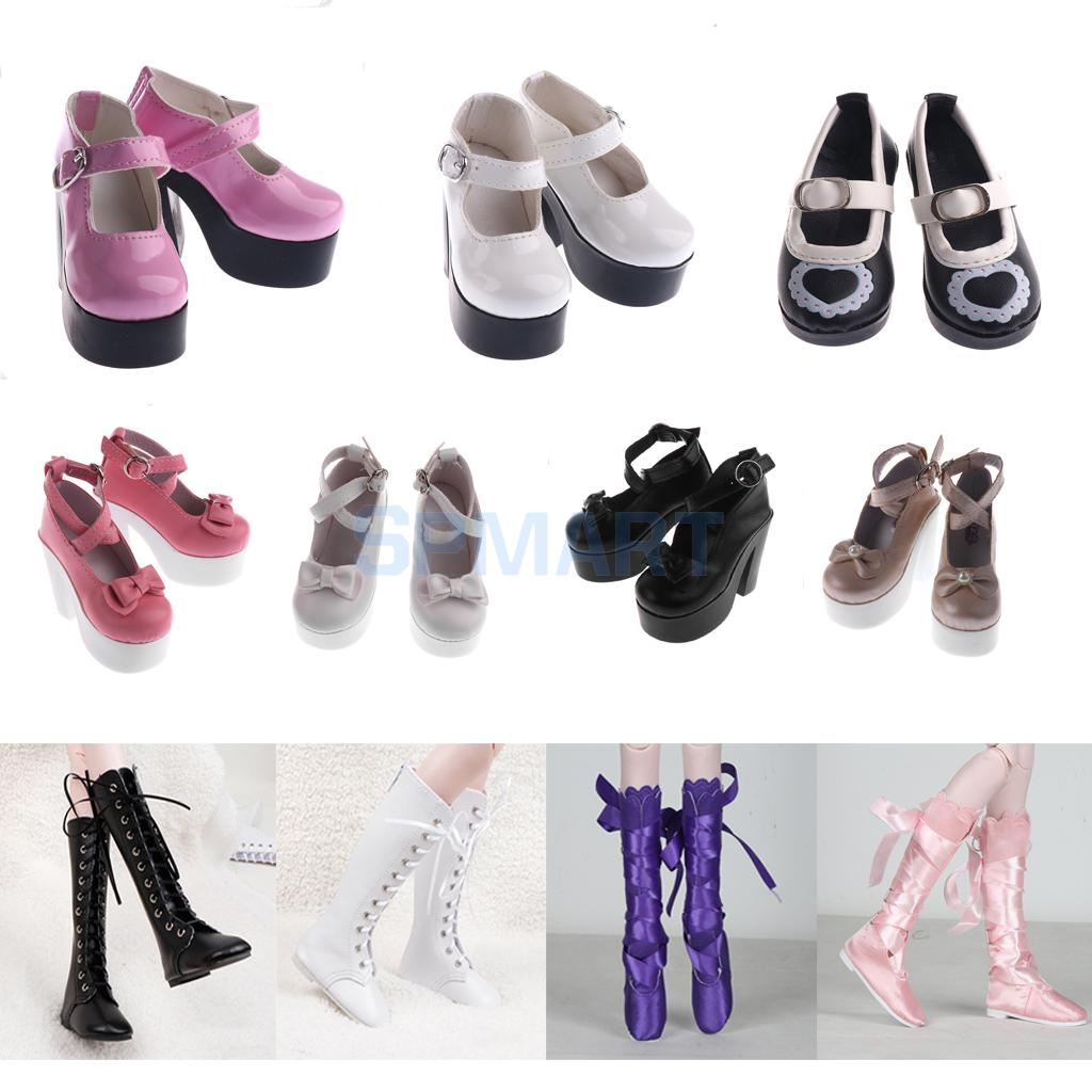 Various Fashion BJD Dolls Shoes Martin Boots/Ballet Shoes/High Heel for 1/3 Dollifie MSD DOD LUTS Dolls Outfit bjd bb black high leather boots for 1 6 yosd super dollfie luts dod as dz doll shoes sb16