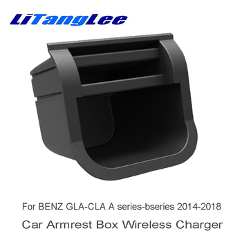LiTangLee Wireless Charger for Mercedes Benz GLA-Class X156 45 2016 2017 2018 2019 Car Quick Charge Fast Mobile Phone Car Charge