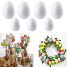 50Pcs Easter Handmade DIY Painting Egg Accessories White Foam Party Supplies Gift For Kids