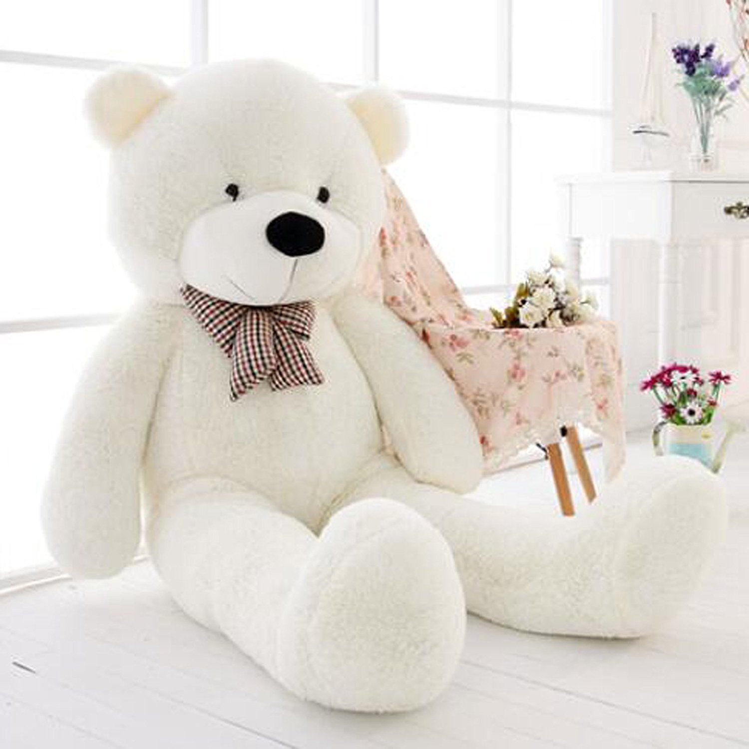 все цены на 47inch Giant Big Huge White Teddy Bear Plush Stuffed Soft Toys dolls Xmas Gift